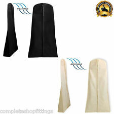 """BRAND NEW BREATHABLE WEDDING DRESS GOWN GARMENT COVER BAG 26''X72"""" ZIP"""