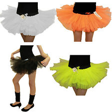 GIRLS 1980S 3 LAYER NEON TUTU SKIRTS HEN PARTY FANCY DRESS SKIRT AGE 5-10 YEARS