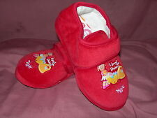 Girls Slippers Infant In The Night Garden UPSY DAISY Red Sizes 3-12