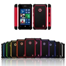 Heavy Duty Hybrid Rugged Hard Impact Case Cover for Nokia Lumia 521