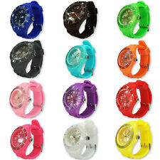 Fashion Unisex Gel Analog Wrist Sports Watch Jelly SIlicone Ladies Men Kids New