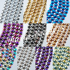 Natural Hematite Gemstone Round Ball Beads 50PCS Metallic Color 8MM MBG070