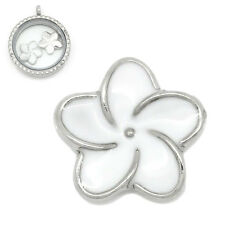 NEW White Flower Petal Floating Charm for Living Memory Locket 1 5 or 10 Charms