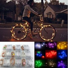 2M 7ft 20 LEDS Silver Copper Wire LED Starry Lights String Fairy Battery Powered