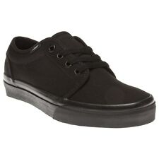 New Boys Vans Black 106 Vulcanized Canvas Trainers Lace Up