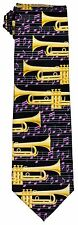 Musical Trumpets Tie and Handkerchief Set