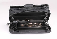 NEW Top Quality Ladies REAL BLACK  LEATHER Purse  Women Wallet Soft  Coin L24