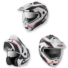 NEW CABERG TOURMAX SONIC WHITE BLACK FLIP UP HELMET FREE EU DELIVERY