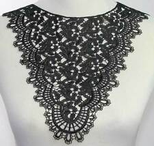 1Pc Black / White Venise Applique Sewing On Dress Neckline Collar Lace Craft