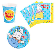 Max and Ruby Birthday Party Supplies Plates Napkins & Cups Set for 8 or 16 NEW