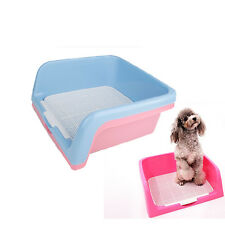 "New16""x16"" Indoor Dog Puppy Plastic Potty Training Fence Tray Pad Pet Pee Toilet"