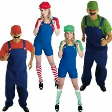 Adult Plumber Fancy Dress Costume - Super 1980s / 80s Game Workman Outfits