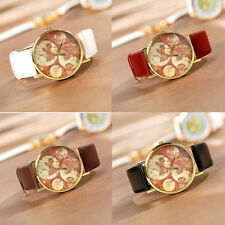 New World Map Globe Fashion Leather Alloy Womens Analog Quartz watches free ship