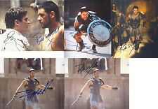 """Gladiator by Russell Crowe +/- Joaquin Pheonix 10 x 8"""" Signed PP Autograph"""