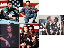 "Top Gun Cast inc Tom Cruise & Val Kilmer 10 x 8"" Signed PP Autograph"