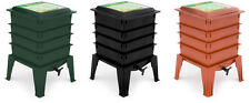 Worm Factory 360 Composting Worm Bin (Black,Green,Terracotta) With/Without Worms