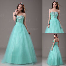 A-line Clearance Sweetheart Formal Prom Dress Tulle Ball Party Quinceanera Gown