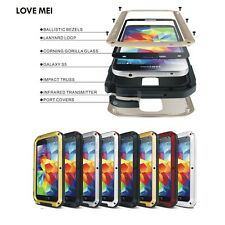 Aluminum Metal Water Proof Gorilla Glass Case Cover For Samsung Galaxy S5 I9600