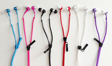 3.5mm zipper headset earphones headphones FOR Iphone 4 5 samsung galaxy s3 s4 s5