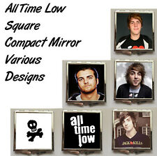 All Time Low Square Shaped Compact Mirror (Various Designs)