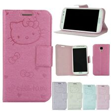 Hello Kitty Cover Case for iPhone4/4S 5/5S/Samsung Galaxy S4 I9500+2Film+2Pen