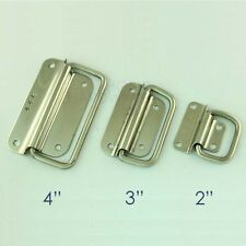 """2 pcs chest handle stainless steel trunk pulls 2""""3""""4"""""""