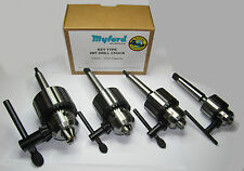 New Myford 2mt key type lathe drill chuck 10mm, 13mm, 16mm, 20mm mt2 Myford ltd