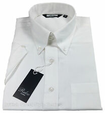 Relco Short Sleeve Oxford Shirt - White - Classic 60s Button Down - Mod Skin