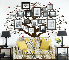 Large Wall Family Tree Decal Photo Branches Nursery with Falling Leaves Birds