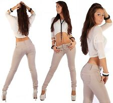 H72 Womens Skinny Tube Jeans Trousers Hipsters UK XS 4 - XL 14