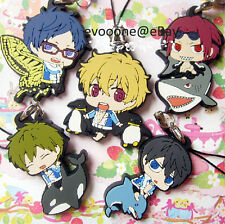Free! Anime Swimming Club Iwatobi Rubber Charm Strap *1 pcs Small Animal Version