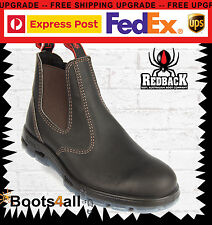 Redback Work Boots UBOK Dark Brown Leather Easy Escape Style Bobcat Soft Toe