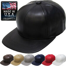 Genuine Leather Solid Baseball Ball Cap Adjustable Hat NEW