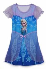 Girl Elsa New Frozen Queen Dress Cosplay Costume Pajama Sleepwear Nightgown FREE