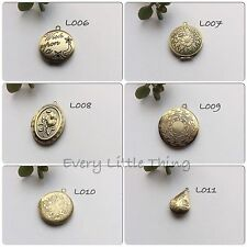 Assorted Antiqued Bronze Brass Pendants Necklace Locket Free Shipping