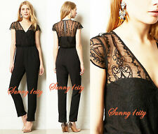 NEW M Anthropologie Georgette Embroidered Jumpsuit By Dolce Vita $178 USA Pretty
