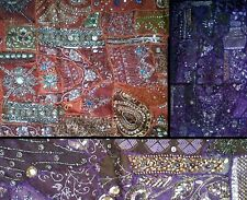 INDIAN VINTAGE EMBROIDERED WALL HANGING TAPESTRIES FOR BED, DINING & LIVING ROOM