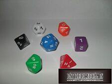 OPAQUE DICE SETS - Multi Sided Poly Dice D20 RPG D&D NEW