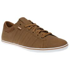 New Mens K-Swiss Tan Brown Hof IV VNZ Leather Trainers Tennis Style Lace Up