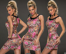 New Sexy Women Summer Mini Floral Party Casual Bodycon Stretch Dress UK SZ 8/12