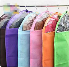 Zippered Garment Bags Keep Waredrobes Safe Dress Suit Cover Clear Dust Clean