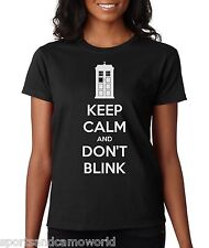 Keep Calm and Don't Blink Women's Dr. Who t-shirt - Choose Color!