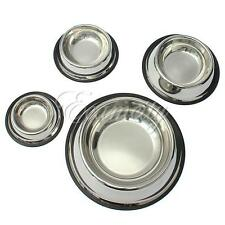 Stainless Steel Pet Dog Cat Puppy Travel Feeding Feeder Food Bowl Water Dish New