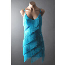 Tiered Fringe Sequined 20s Flapper Cocktail Evening Dance Party Dress S/M M/L