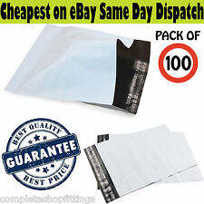 """NEW STRONG GREY WHITE 10""""X14"""" MAILING BAGS POSTAL PACKAGING ENVELOPE HEAVY DUTY"""
