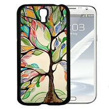 Colorful Love Tree Painting Hard Cell Phone Case For Samsung Galaxy S3 S4 S5
