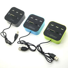 3 ports USB 2.0 HUB Multiple Card Reader Combo for SD/MMC/M2/MS MP-All In One