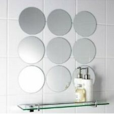 Pack of 10 x 10cm Diameter Circle Mosaic Silver Mirror Tiles, 3mm Acrylic Mirror