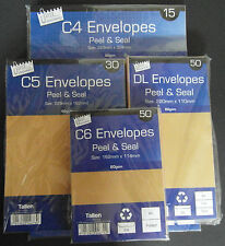 C6 C5 C4 SELF SEAL PLAIN MANILLA BROWN ENVELOPES manila peel a4 a5 a6 ref.a118