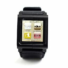 Fashion Leather Multi-Touch Watch Band Kit Strap for iPod Nano 6th Generation